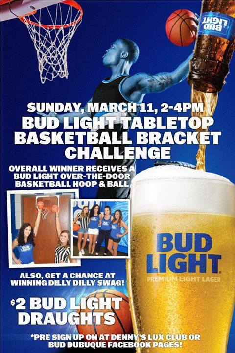 Bud Light Tabletop Basketball Bracket Challenge