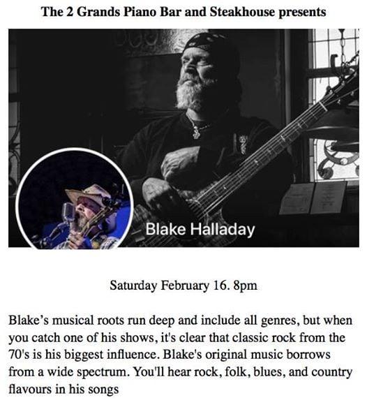 Blake Halladay Live