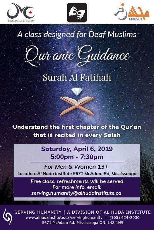 Quranic Guidance at Al Huda Institute, Canada, Mississauga