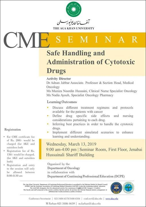 Safe Handling and Administration of Cytotoxic Drugs