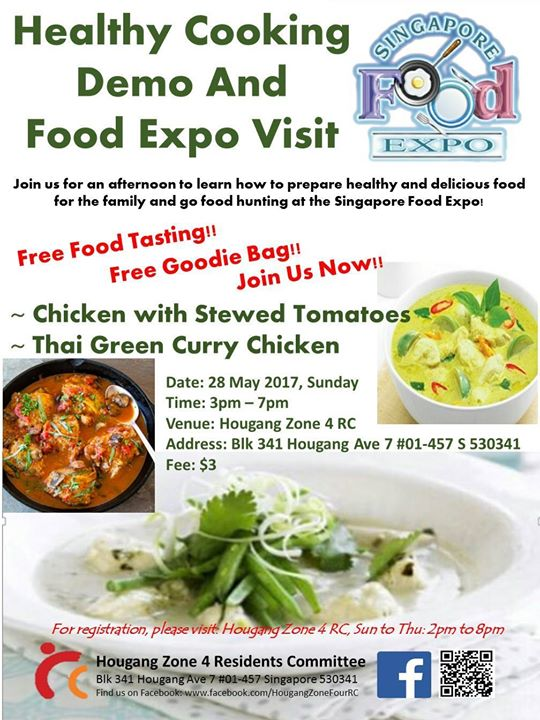 Healthy Cooking Demo & Visit to Food Expo at Hougang Zone 4 RC