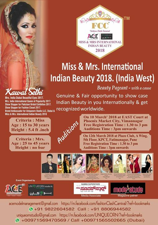 Miss & Mrs International Indian Beauty at Zion Restaurants, Pune