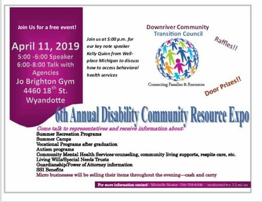 6th Annual Disability Community Resource Expo at Jo Brighton Skills