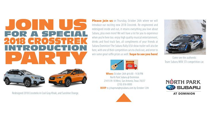 North Park Subaru >> 2018 Crosstrek Launch Event At North Park Subaru At Dominion