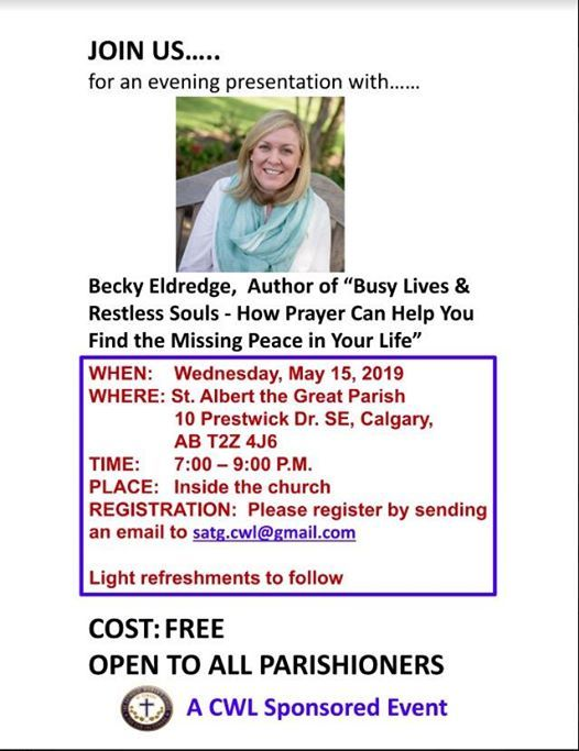 An Evening Presentation by Author Becky Eldredge