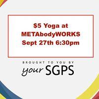SGPS Yoga Class at METAbodyWORKS