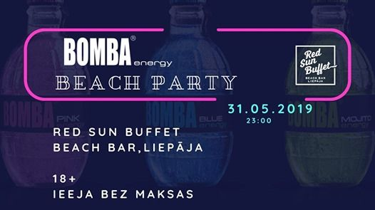 Incredible Bomba Energy Beach Party At Red Sun Buffet Beach Bar Liepaja Best Image Libraries Sapebelowcountryjoecom