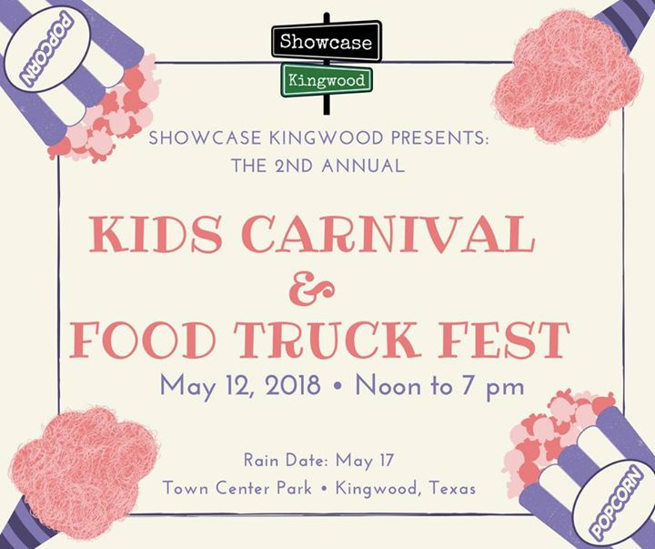 Kingwood Town Center: 2nd Annual Kingwood Kids Carnival And Food Truck Fest At