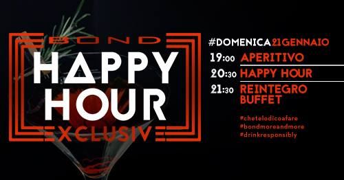 Bond Exclusive Happy Hour