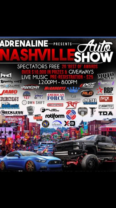 Adrenaline Nashville Auto Show At Nashville - Nashville car show