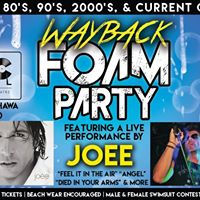 Wayback Foam Party feat. JOEE performing live in Oshawa