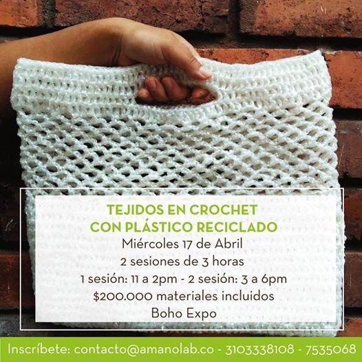 Tejidos en crochet con plstico reciclado