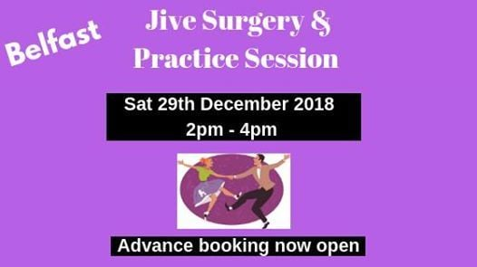 Jive Surgery & Practice Belfast - Sat 29th Dec - 2pm to 4pm