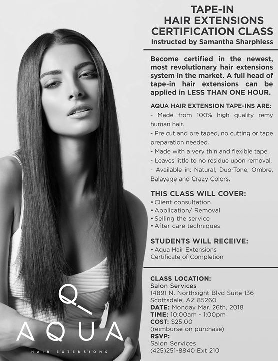Tape In Hair Extensions Certification Class At 14891 N Northsight