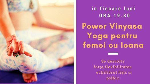 Power Vinyasa Yoga pentru Femeii cu Ioana