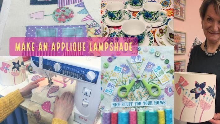 Make an applique lampshade at studio 13 dunfermline