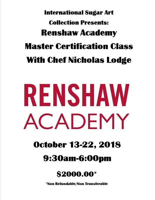 Renshaw Academy Master Certification Class w/Chef Nicholas Lodge at ...