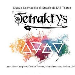 Tetraktys - Debutto spettacolo di strada con trampoli e fuoco
