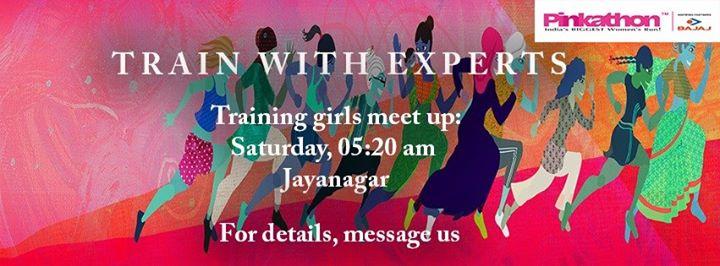 Pinkathon Training Meet up  Jayanagar