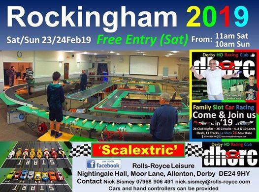 Rockingham Motor Speedway Scalextric Weekend (Derby Uk)