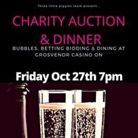 Bubbles betting and bidding Charity Auction &amp two course meal