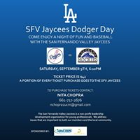 SFV Jaycees Dodger Day Fundraiser