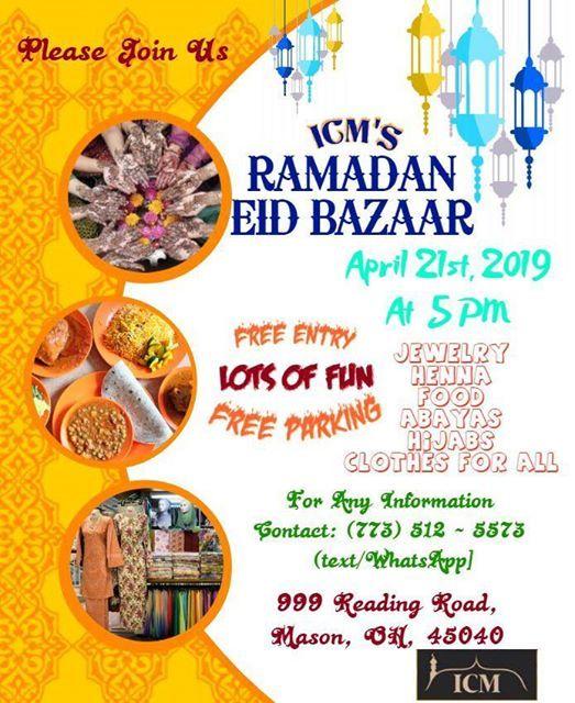 Ramadan Eid Bazaar at Islamic Center of Mason , Ohio, Ohio