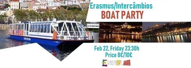 Erasmus Welcome Boat PartyFesta no Barco