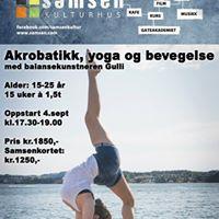 Akrobatikk dans og yoga.