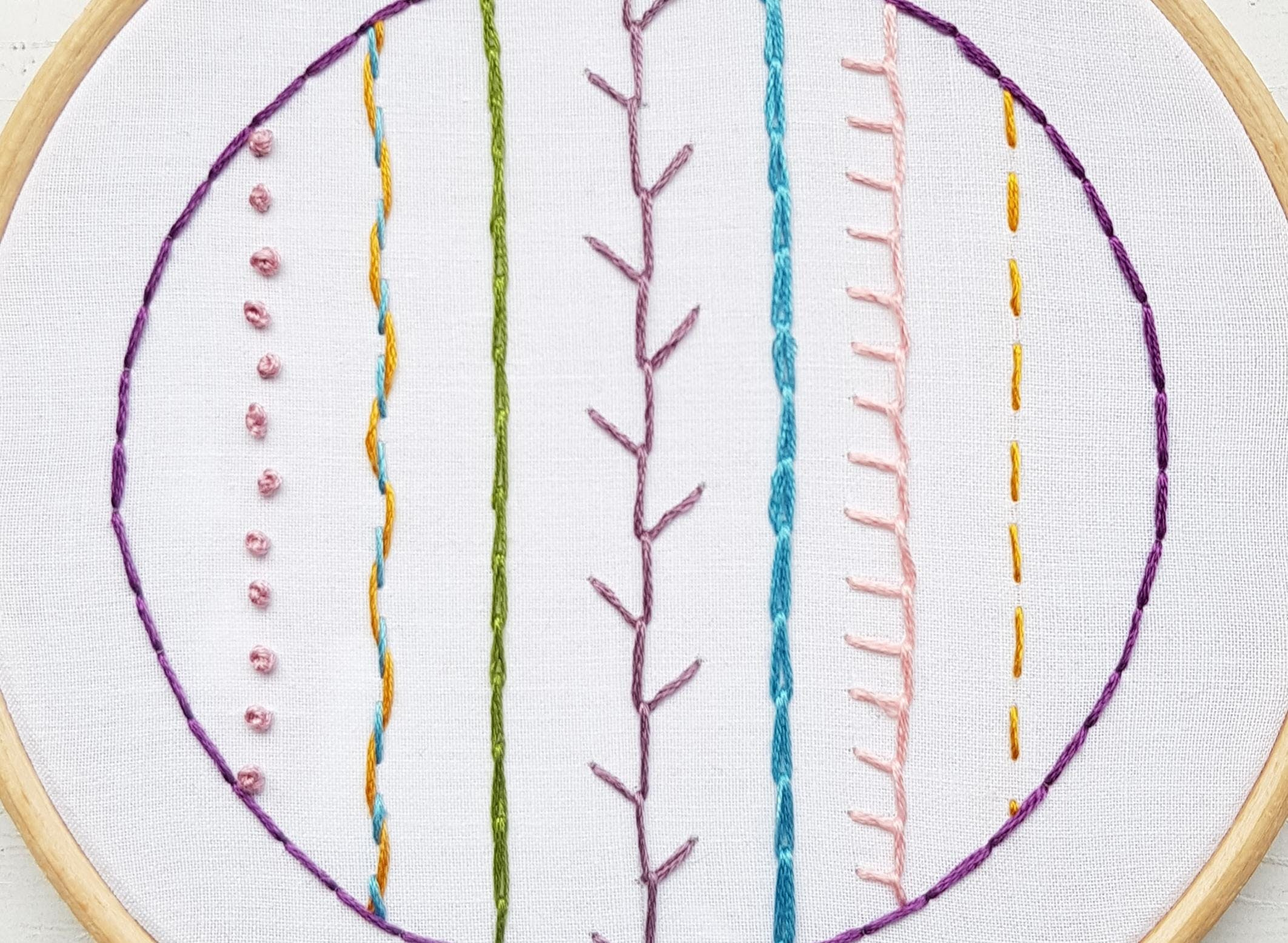 Hand Embroidery Workshop For Beginners Natalie Gaynor Designs At