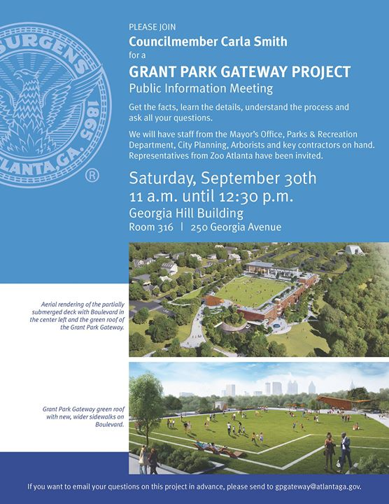 Grant Park Gateway Project Public Meeting With Carla Smith