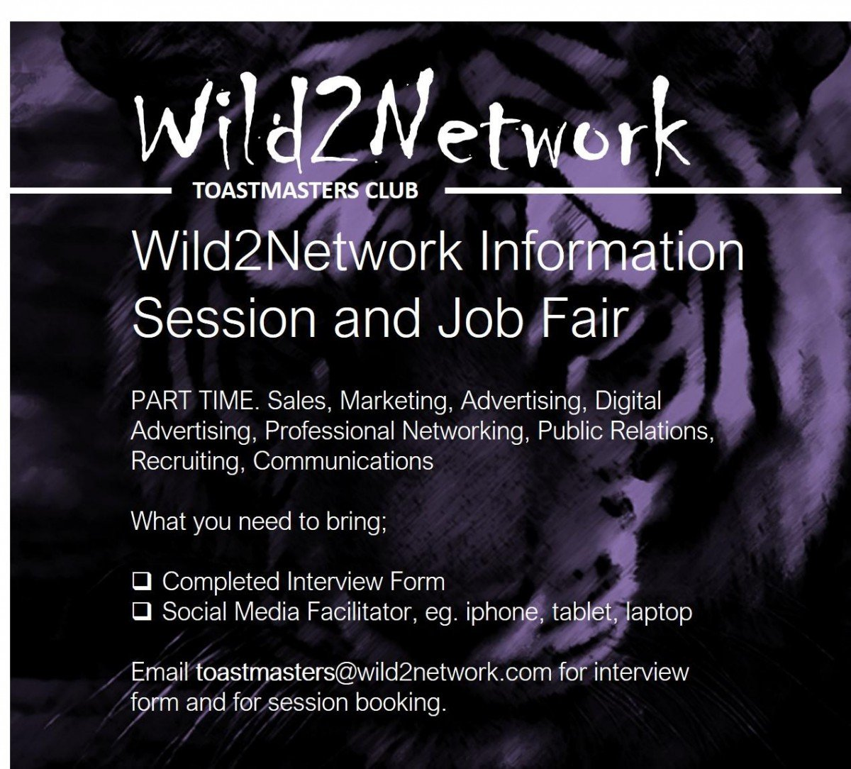 Wild2Network Info Session And Job Fair