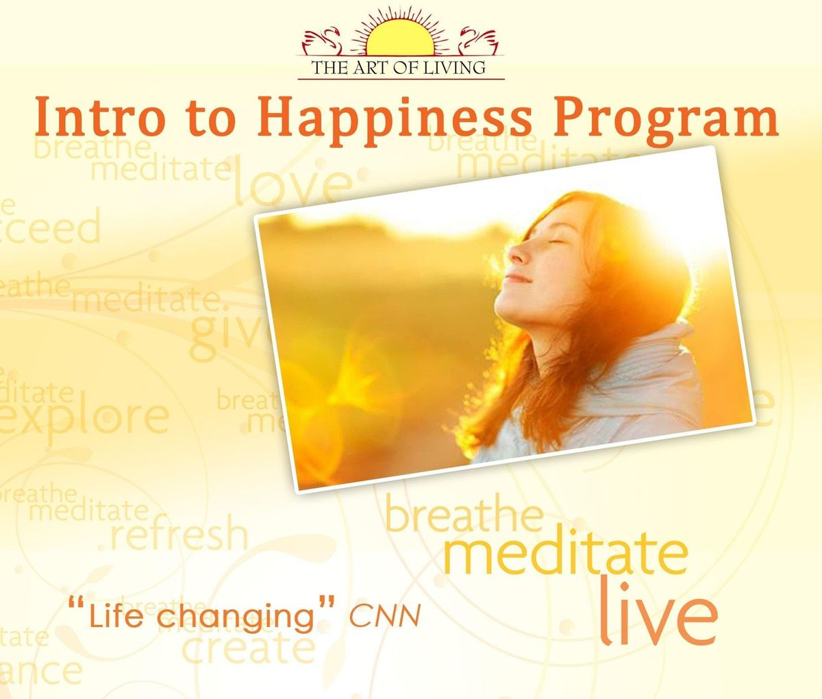 Breath Meditate Be Happy - INTRODUCTION TO HAPPINESS PROGRAM