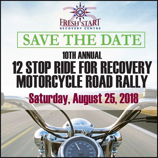 10th Annual 12 Stop Ride for Recovery Motorcycle Road Rally