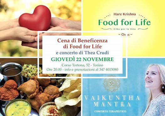 Cena di beneficenza di Food for Life per i senzatetto