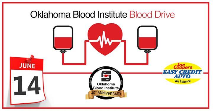 Joe Cooper Easy Credit >> Oklahoma Blood Institute Blood Drive At Joe Cooper S Easy