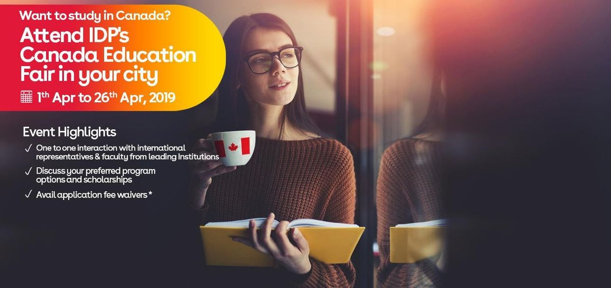 Study in Canada - Free Education Fair in Hyderabad  (17th April  11am to 5pm )