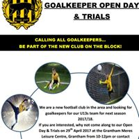 Goalkeepers OPEN DAY &amp TRIALS