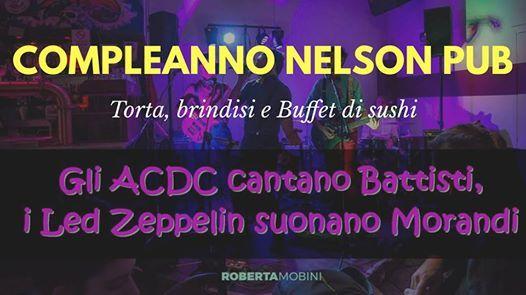 Compleanno Nelson pub - Brindisi torta e Buffet di sushi
