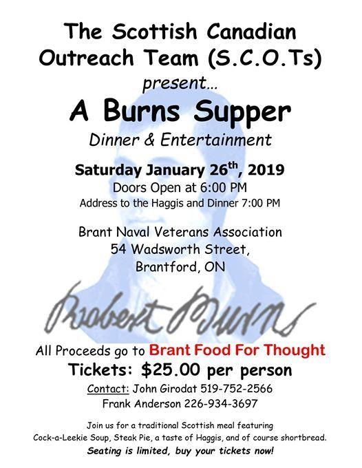 A Burns Supper - Dinner & Entertainment
