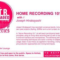 Home Recording 101 Workshop