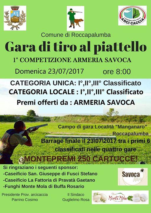 Gara Di Tiro Al Piattello Con Barrage Finale At Roccapalumba