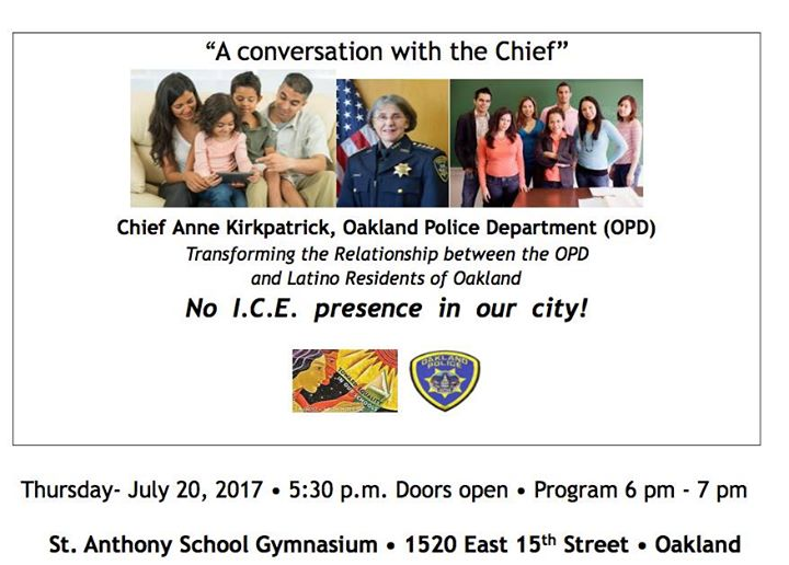 A conversation with the OPD Chief at St  Anthony School
