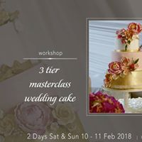 3tier Masterclass Wedding Cake hands on