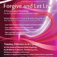 Forgive and Let Live  A Forgiveness Workshop for Spiritual Heal