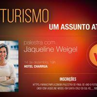 Palestra O Futuro do Mundo com Jaqueline Weigel em Santa Cruz