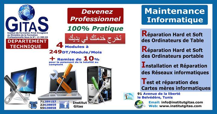 formation professionnelle maintenance informatique