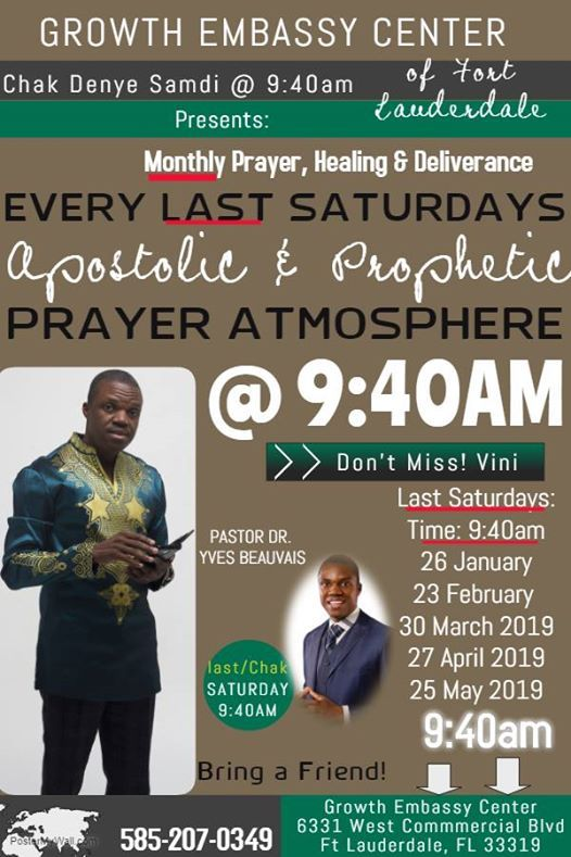 Monthly Prophetic Prayer Atmosphere with Pastor Yves Beauvais at