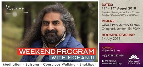 Weekend Program with Mohanji in London