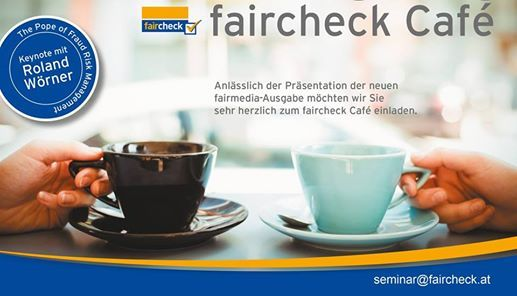 faircheck Caf Release fairmedia Magazin und Roland Wrner